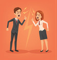 man and woman office workers characters vector image vector image