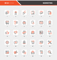 marketing and advertising flat line web icons vector image