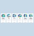 mobile app onboarding screens school teacher and vector image vector image