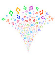 music notes fountain stream vector image vector image