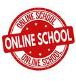 online school grunge rubber stamp vector image vector image
