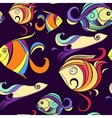 Ornamental fish marine print vector image