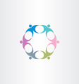 people teamwork circle icon vector image vector image
