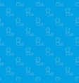 pills in jar pattern seamless blue vector image vector image