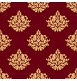 Pretty maroon damask style floral design vector image