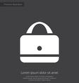 purse premium icon white on dark background vector image