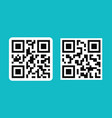 qr code symbol digital electronic 2d barcode vector image
