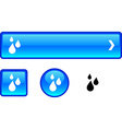 Rain button set vector image vector image