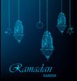 ramadan kareem greeting card vector image vector image