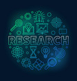 research round outline bright vector image vector image