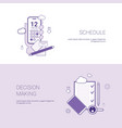 schedule and decision making concept template web vector image vector image
