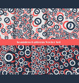 seamless pattern set red blue vector image vector image