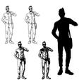 set a fashionable guy vector image vector image