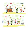 set of people shopping flat symbols icons vector image