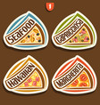 set signs for italian pizza vector image vector image