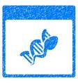 Sperm DNA Replication Calendar Page Grainy Texture vector image vector image