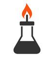 spirit lamp fire flat icon vector image