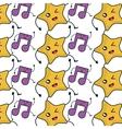 star and music note kawaii character vector image vector image