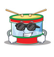 super cool toy drum character cartoon vector image vector image