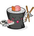 sushi cartoon character vector image vector image