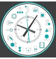 Time management clock vector image