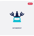 two color oktoberfest icon from alcohol concept vector image