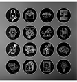 universal modern thin line icons for web and vector image
