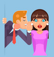 whispering ear secrets cartoon businessman gossip vector image vector image