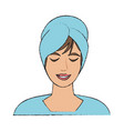 woman face in spa vector image vector image