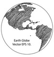 world map earth globe line vector image vector image