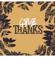 Happy Thanksgiving retro card design Fallen leaves vector image