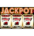 Lucky seven jackpot vector image