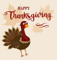 thanksgiving funny turkey background happy vector image