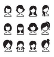 woman hair style icon set vector image