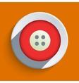 flat icon on orange background Eps10 vector image