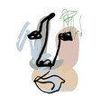 abstract face linemodern drawing in art vector image vector image