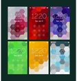 Abstract geometric UI screens mockup kit vector image vector image