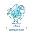 aerospace industry concept icon space exploration
