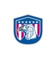 American Bald Eagle Head Side Stars Retro vector image vector image