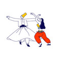 arabic dance concept whirling dervish in vector image