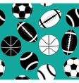 balls black and white vector image