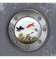 Batiskaf window aquarium vector image vector image