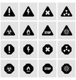 black danger icon set vector image vector image
