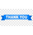 blue ribbon with thank you title vector image vector image