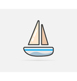 Boat can be used as Logo or Icon vector image vector image