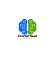 brain tech mind data logo design template vector image