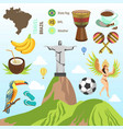 brazil travel famous brazilian sightseeing vector image vector image