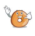 call me bagels mascot cartoon style vector image vector image