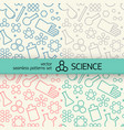 chemistry seamless patterns set vector image vector image