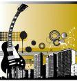 city guitar vector image vector image